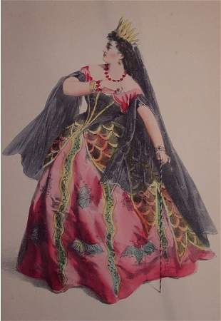 French Lithograph Opera Costumes Victorian