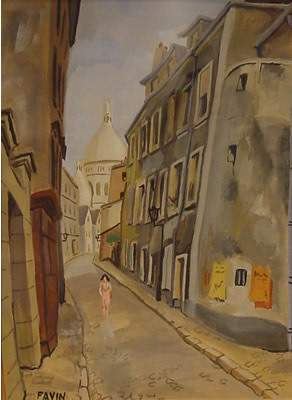 Favin French Painting Modern Paris