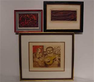American Lithograph Woodblock Modern