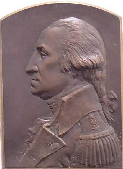 3: Luini Bronze Washington Sculpture American