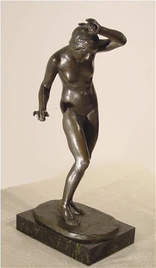 4: Baumler German Nude Bronze Sculpture Deco Modern