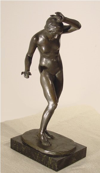 4: Baumler German Nude Bronze Sculpture Deco Modern