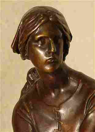 5: Chapu French Bronze Jeanne d'Arc