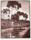 65 Cunningham American Etching Ohio Canal WPA