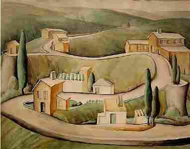 68: Permelia Talyor Watercolor Painting Modern