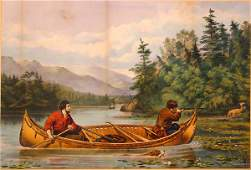 96 Currier American Lithograph 19th Century Tait