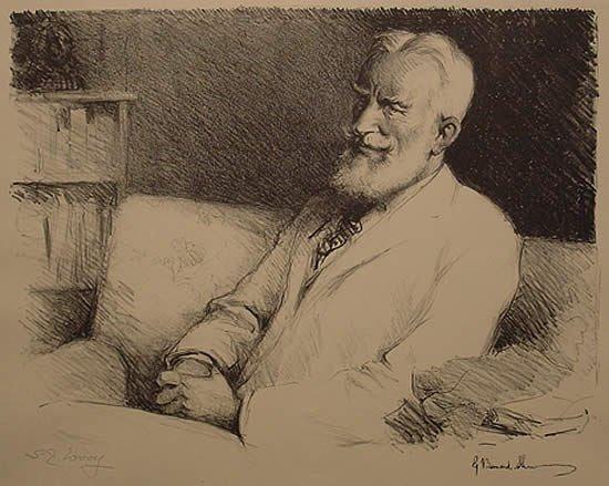 145: Samuel Woolf George Bernard Shaw Illustration