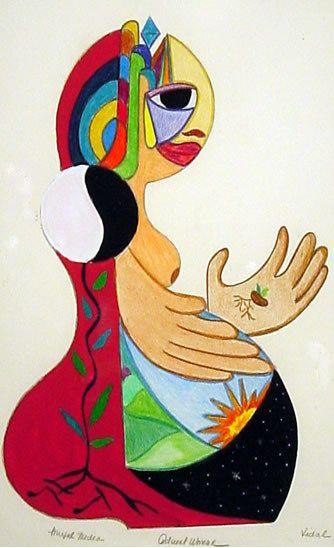 Vidal Argentinian Painting Woman