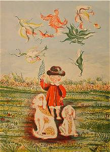 179: Ollivary French Lithograph Naïve