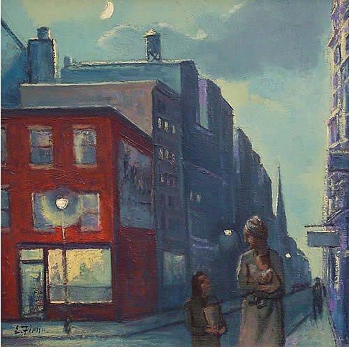 14: Fiene American Mid Century Modern Painting