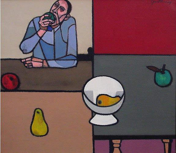 17: Gwathmey American Modern Abstract Painting