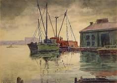 50: Stimmel American Painting Brooklyn Boats