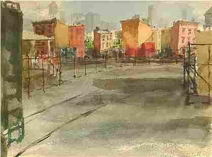 American Painting Railroad City