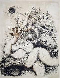 Italian Lithograph Female Nude