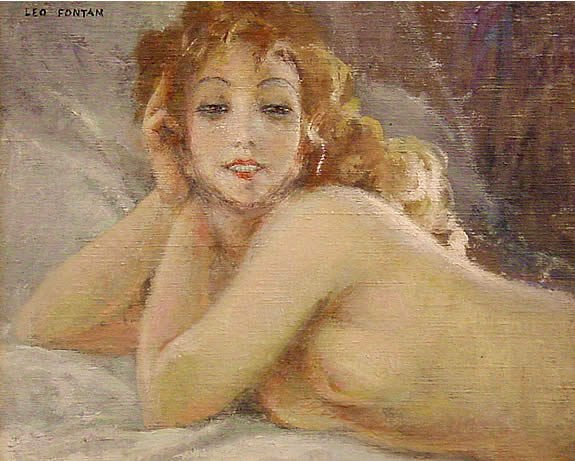 320: Fontan French Painting Female Nude