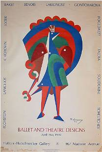 Larionow Russian Poster Ballet Designs