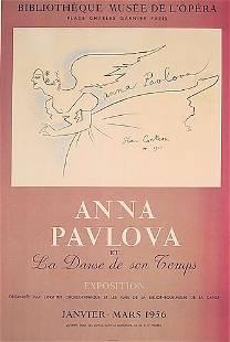 Cocteau French Ballet Poster Pavlova