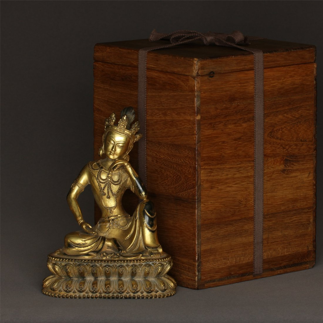 Gilt Bronze Buddha Statue.