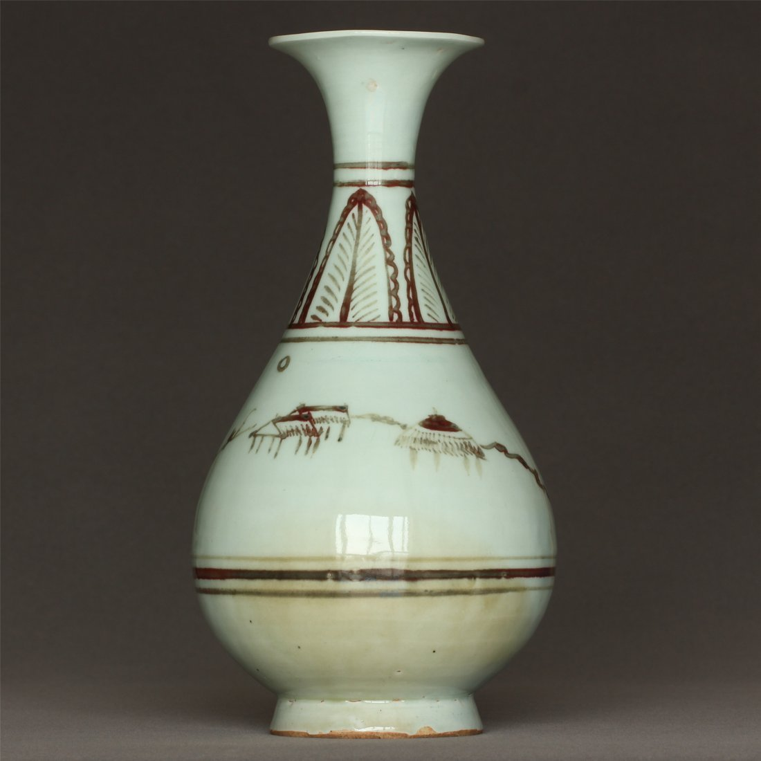 Underglaze Red Porcelain Vase Yuan Dynasty. - 4