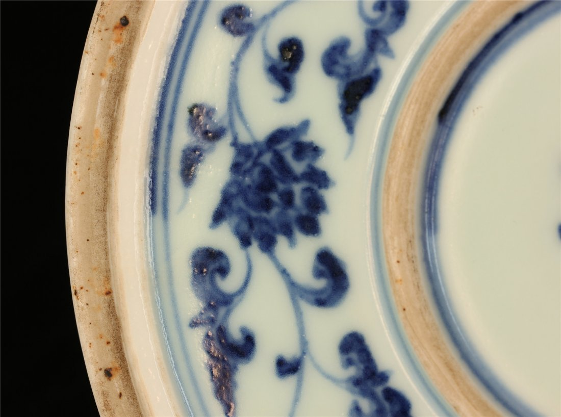 Blue and white porcelain plate of Ming Dynasty YongLe - 10