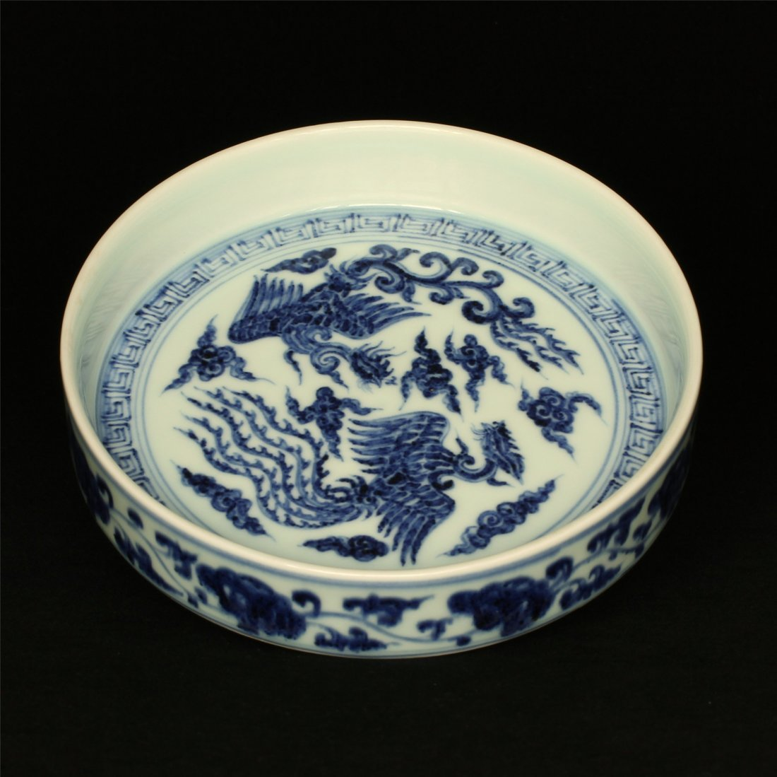 Blue and white porcelain plate of Ming Dynasty YongLe - 5