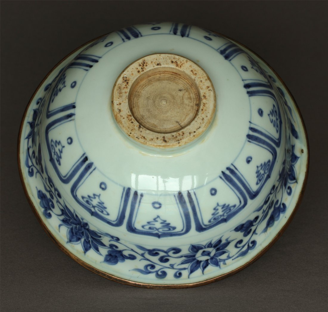 A Blue And White Porcelain Bowl Yuan Dynasty. - 10
