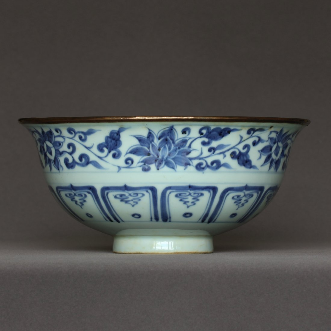 A Blue And White Porcelain Bowl Yuan Dynasty.