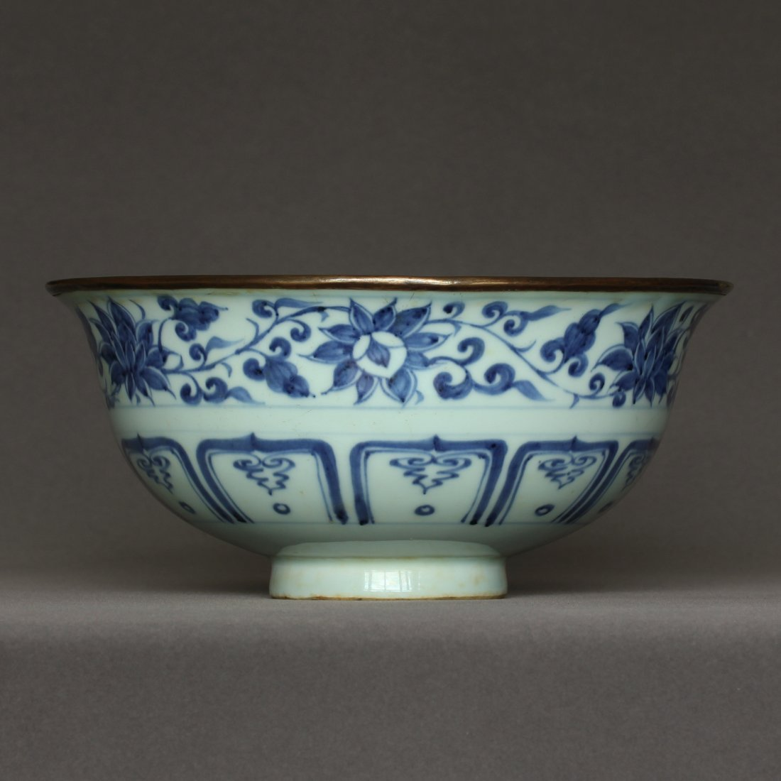 A Blue And White Porcelain Bowl Yuan Dynasty. - 2