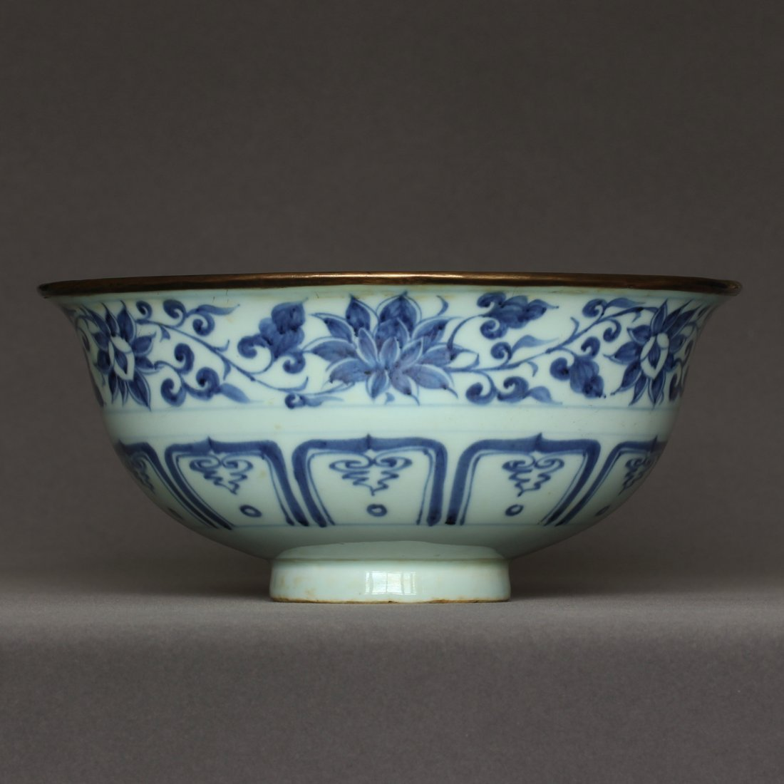 A Blue And White Porcelain Bowl Yuan Dynasty. - 3