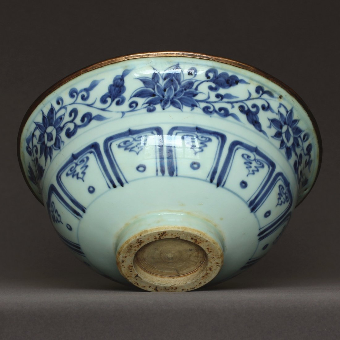 A Blue And White Porcelain Bowl Yuan Dynasty. - 4