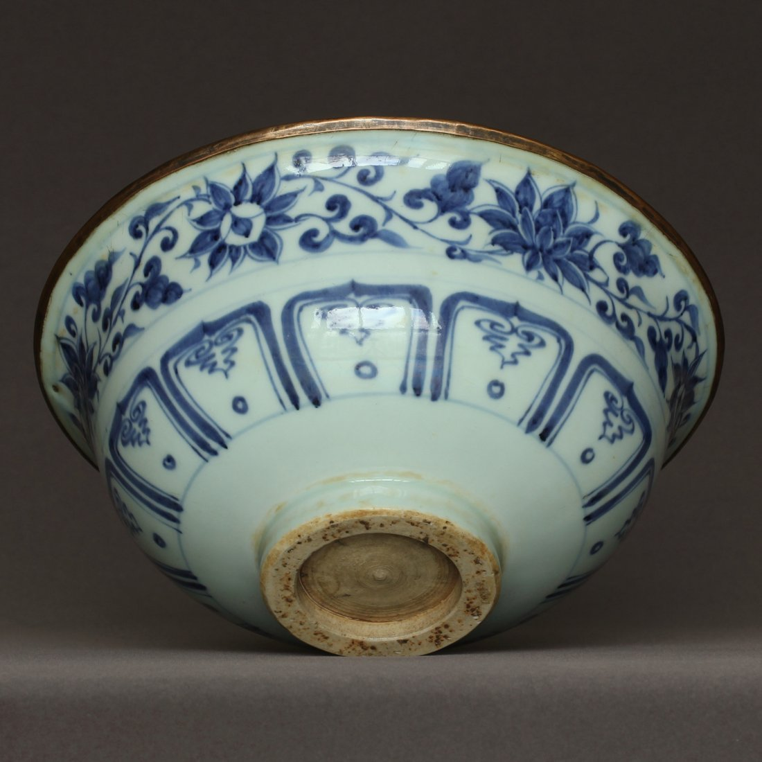 A Blue And White Porcelain Bowl Yuan Dynasty. - 5