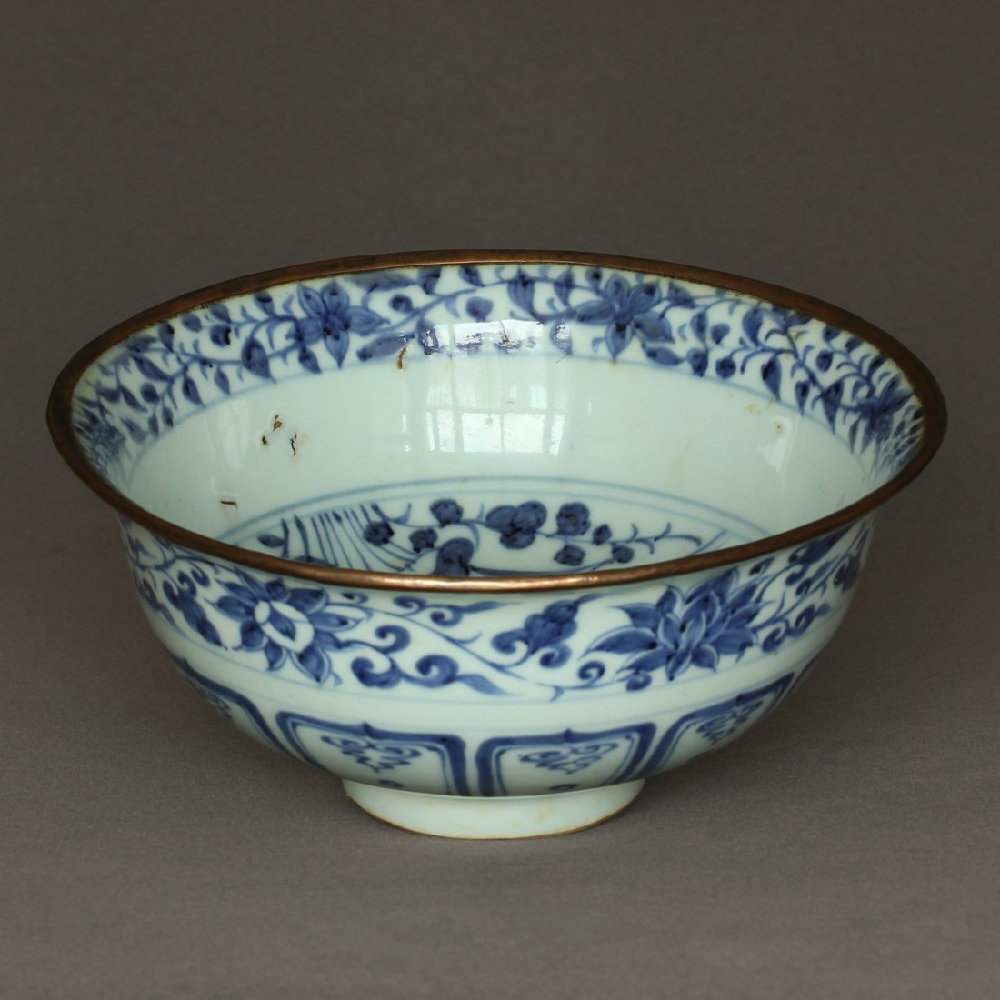 A Blue And White Porcelain Bowl Yuan Dynasty. - 7