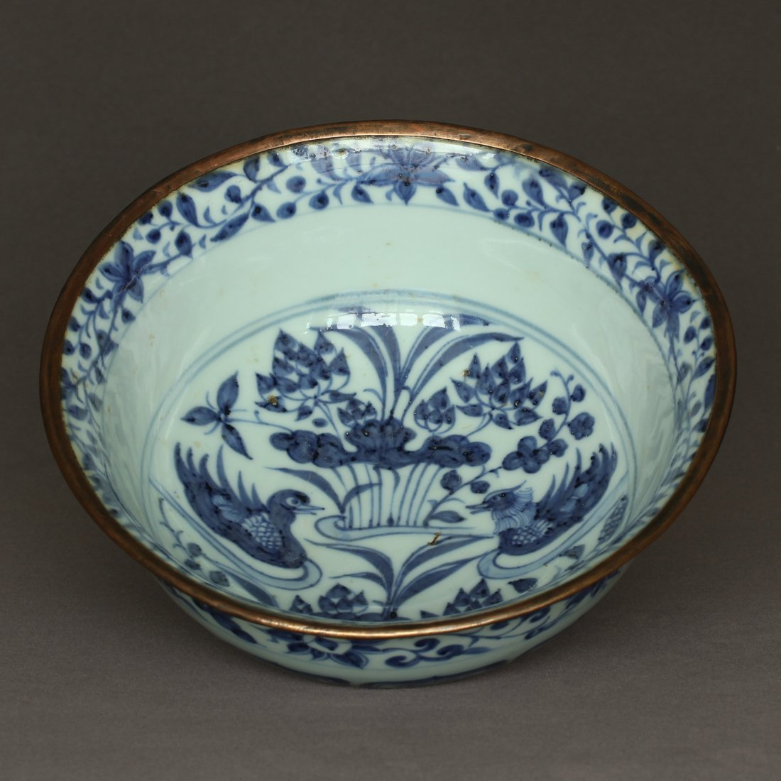 A Blue And White Porcelain Bowl Yuan Dynasty. - 8