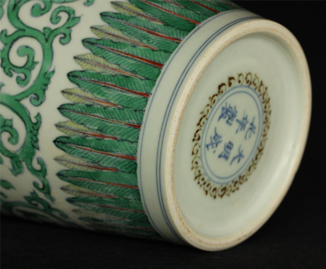 Doucai porcelain vase of Ming Dynasty ChengHua mark. - 10