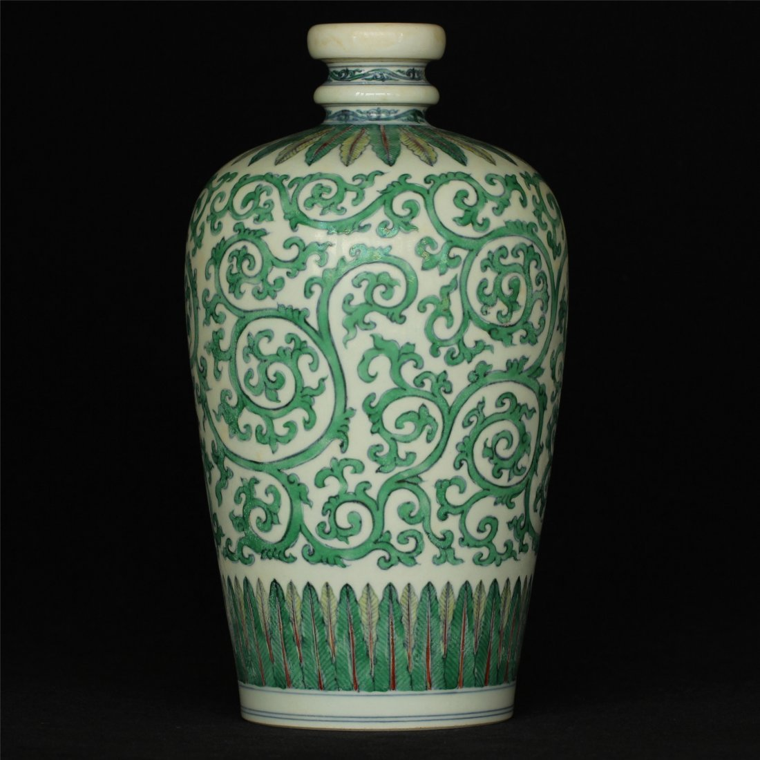Doucai porcelain vase of Ming Dynasty ChengHua mark.