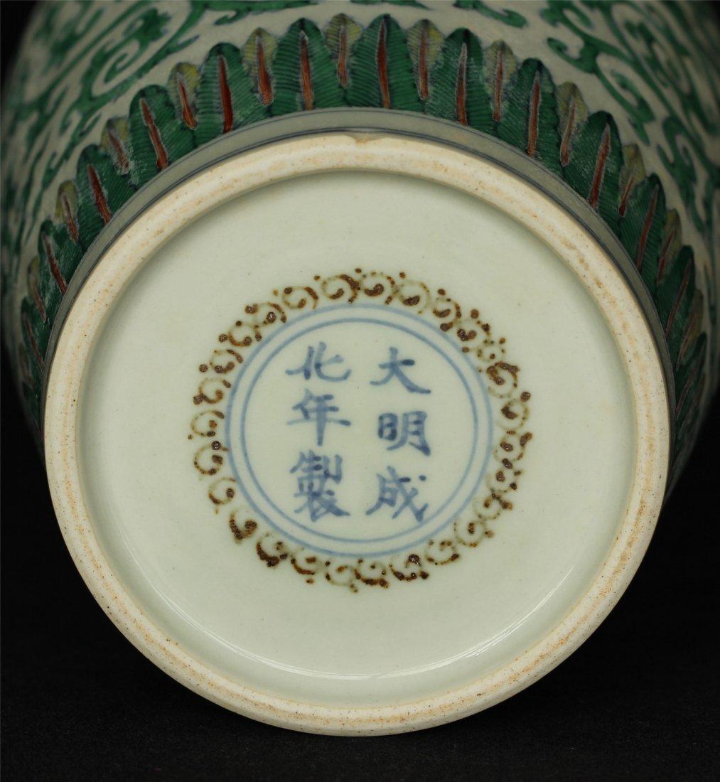 Doucai porcelain vase of Ming Dynasty ChengHua mark. - 2