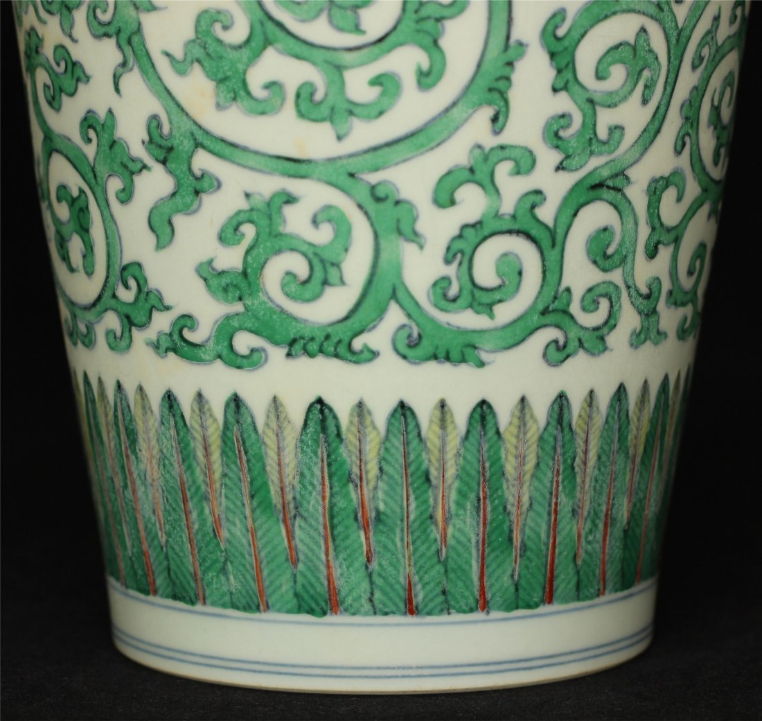 Doucai porcelain vase of Ming Dynasty ChengHua mark. - 6