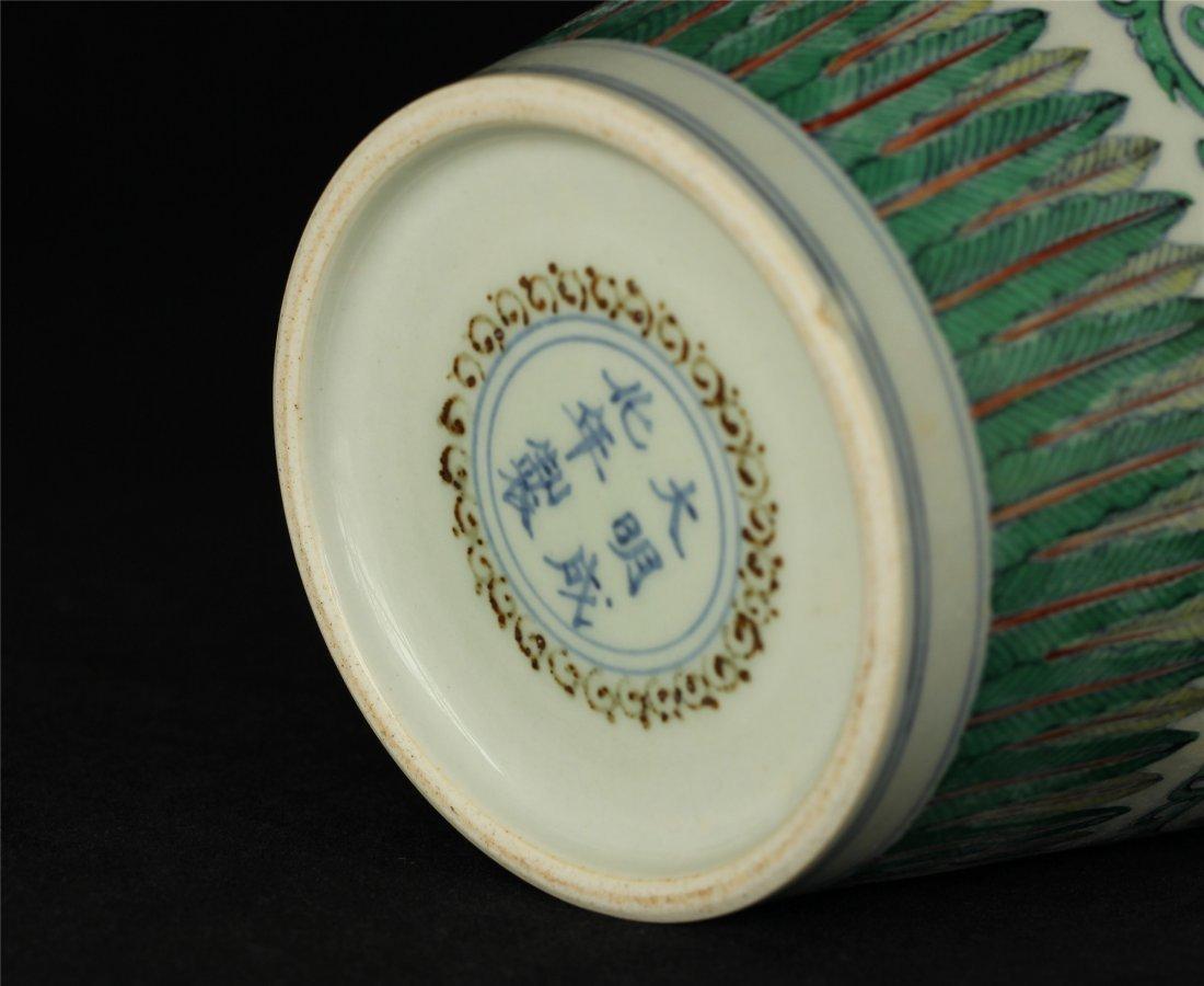 Doucai porcelain vase of Ming Dynasty ChengHua mark. - 9