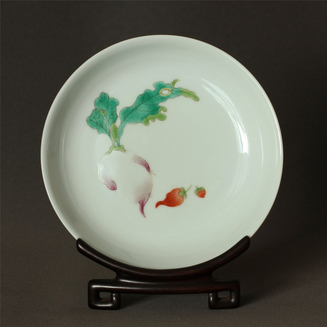 Famille rose porcelain plate of Qing Dynasty XuanTong