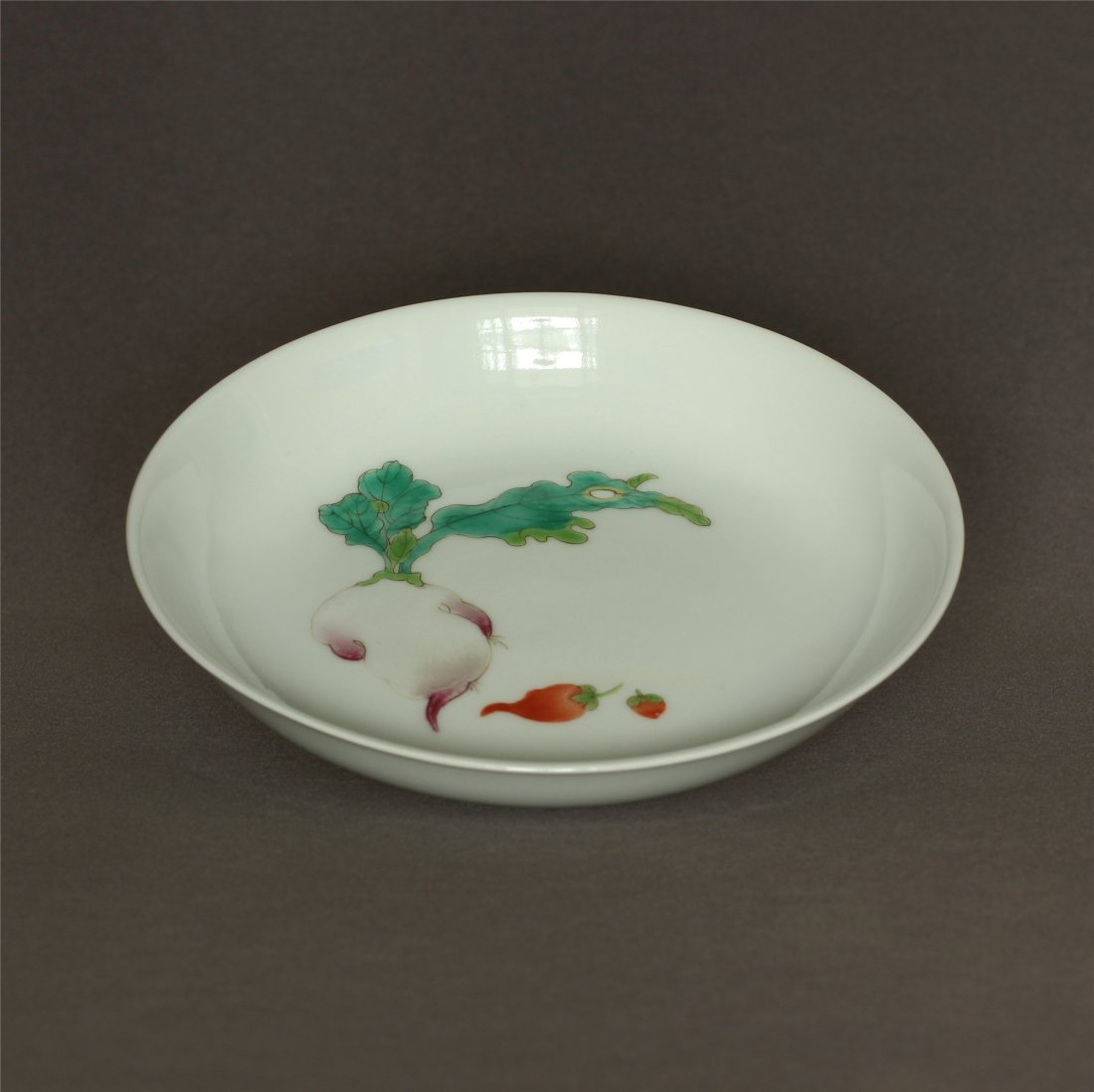 Famille rose porcelain plate of Qing Dynasty XuanTong - 6