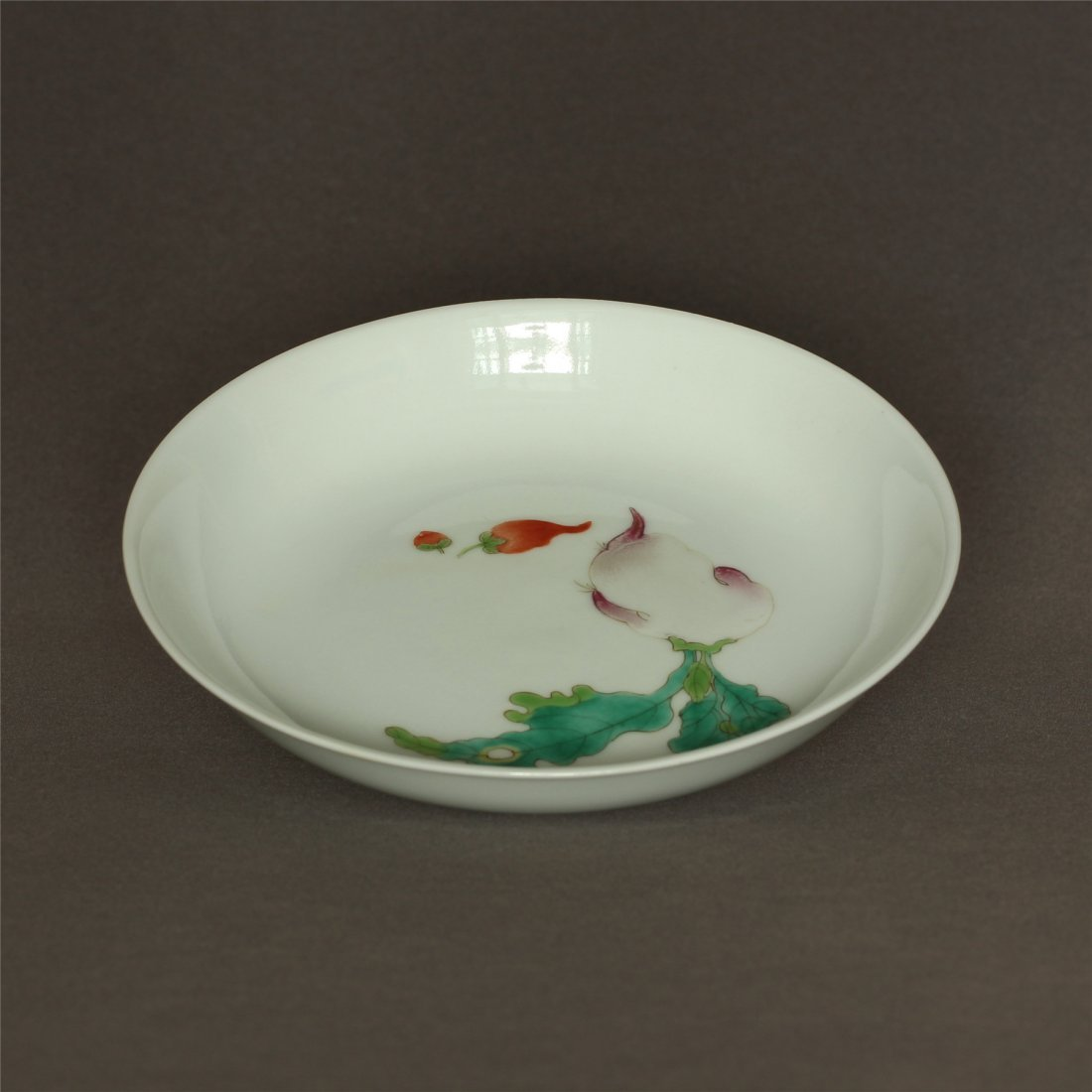 Famille rose porcelain plate of Qing Dynasty XuanTong - 7