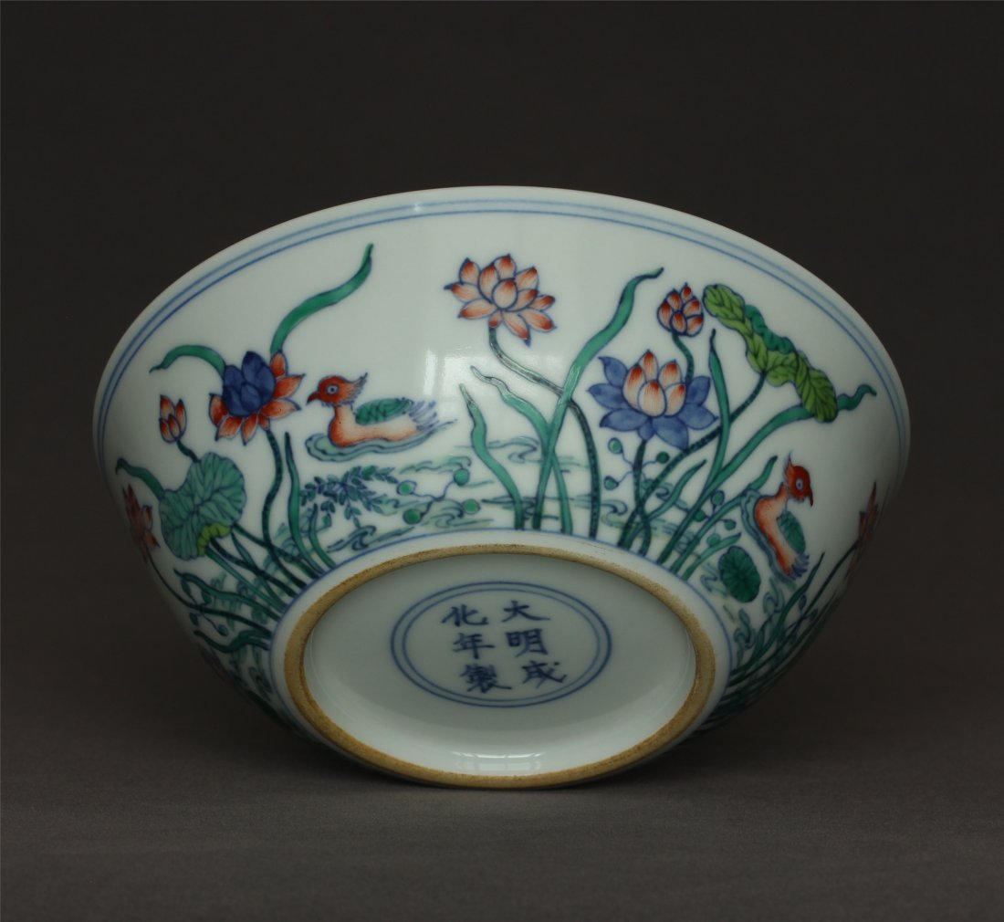 Doucai porcelain bowl of Ming Dynasty ChengHua mark. - 10