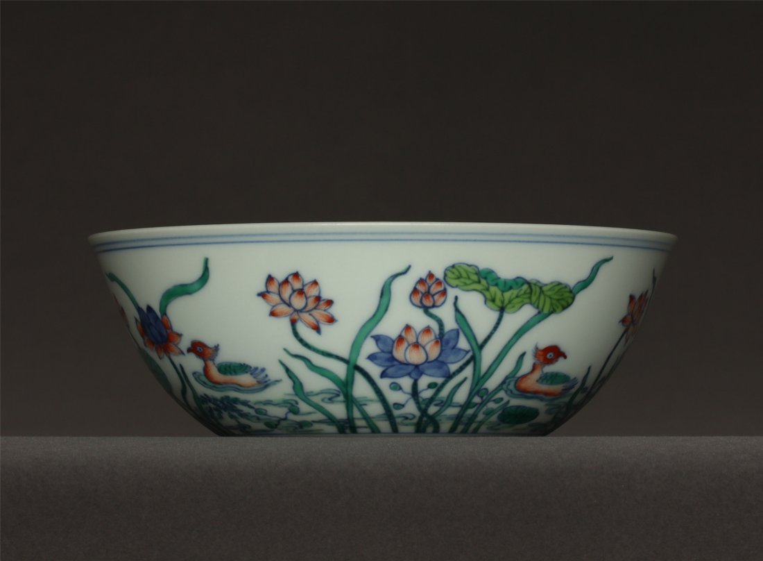 Doucai porcelain bowl of Ming Dynasty ChengHua mark.