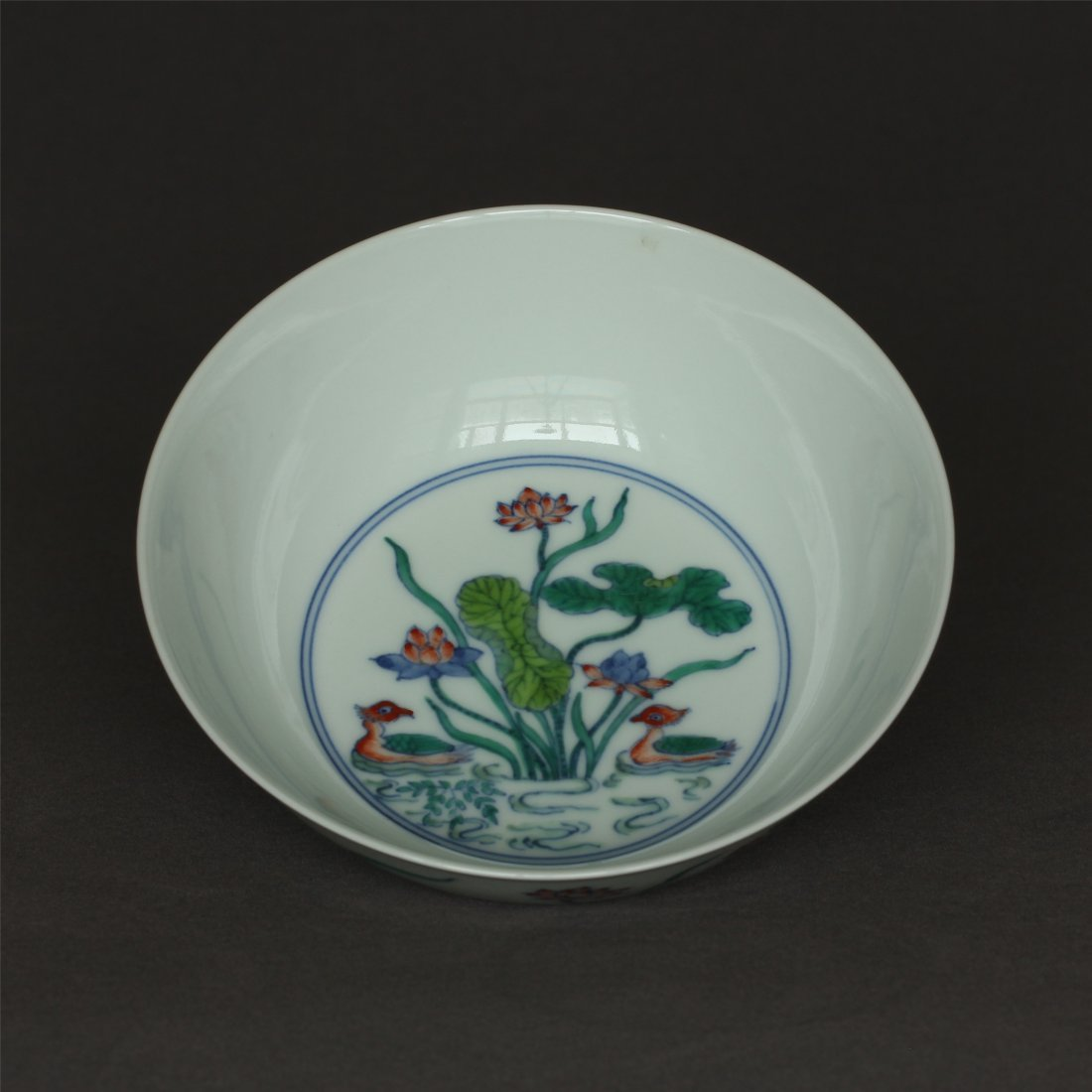 Doucai porcelain bowl of Ming Dynasty ChengHua mark. - 3