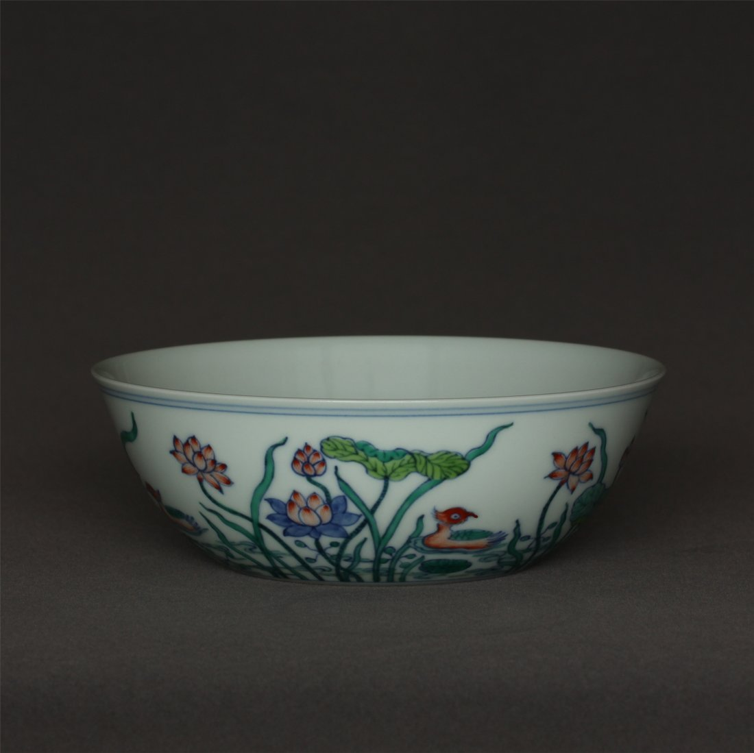 Doucai porcelain bowl of Ming Dynasty ChengHua mark. - 5