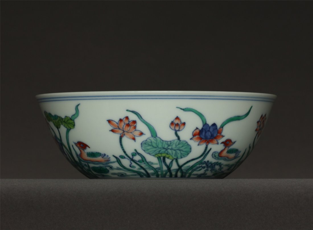 Doucai porcelain bowl of Ming Dynasty ChengHua mark. - 6