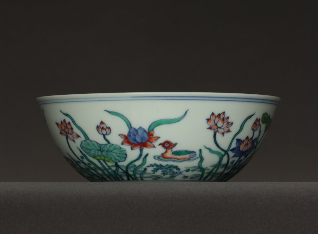 Doucai porcelain bowl of Ming Dynasty ChengHua mark. - 7