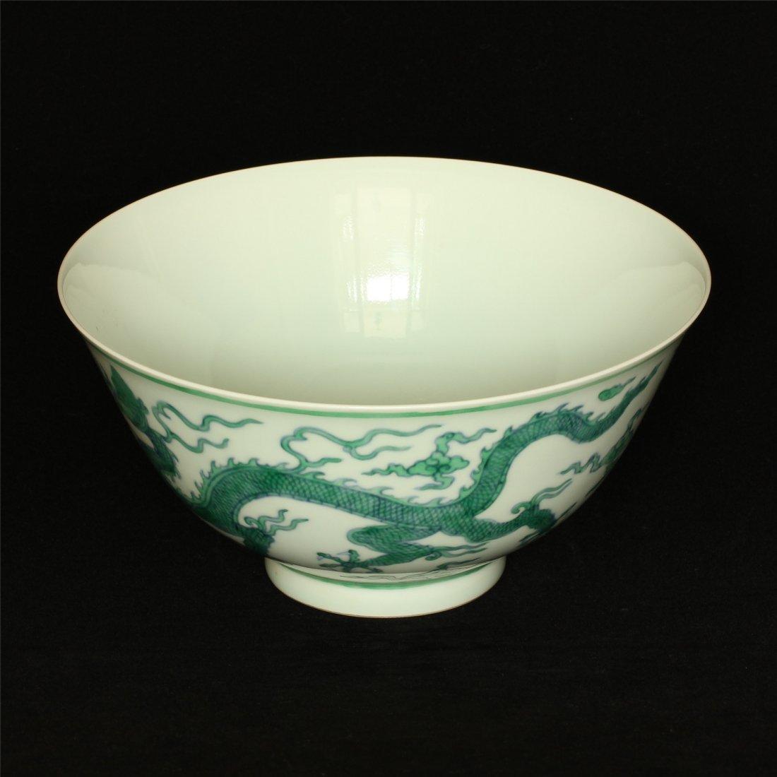 Doucai porcelain bowl of Ming Dynasty ChengHua mark. - 4