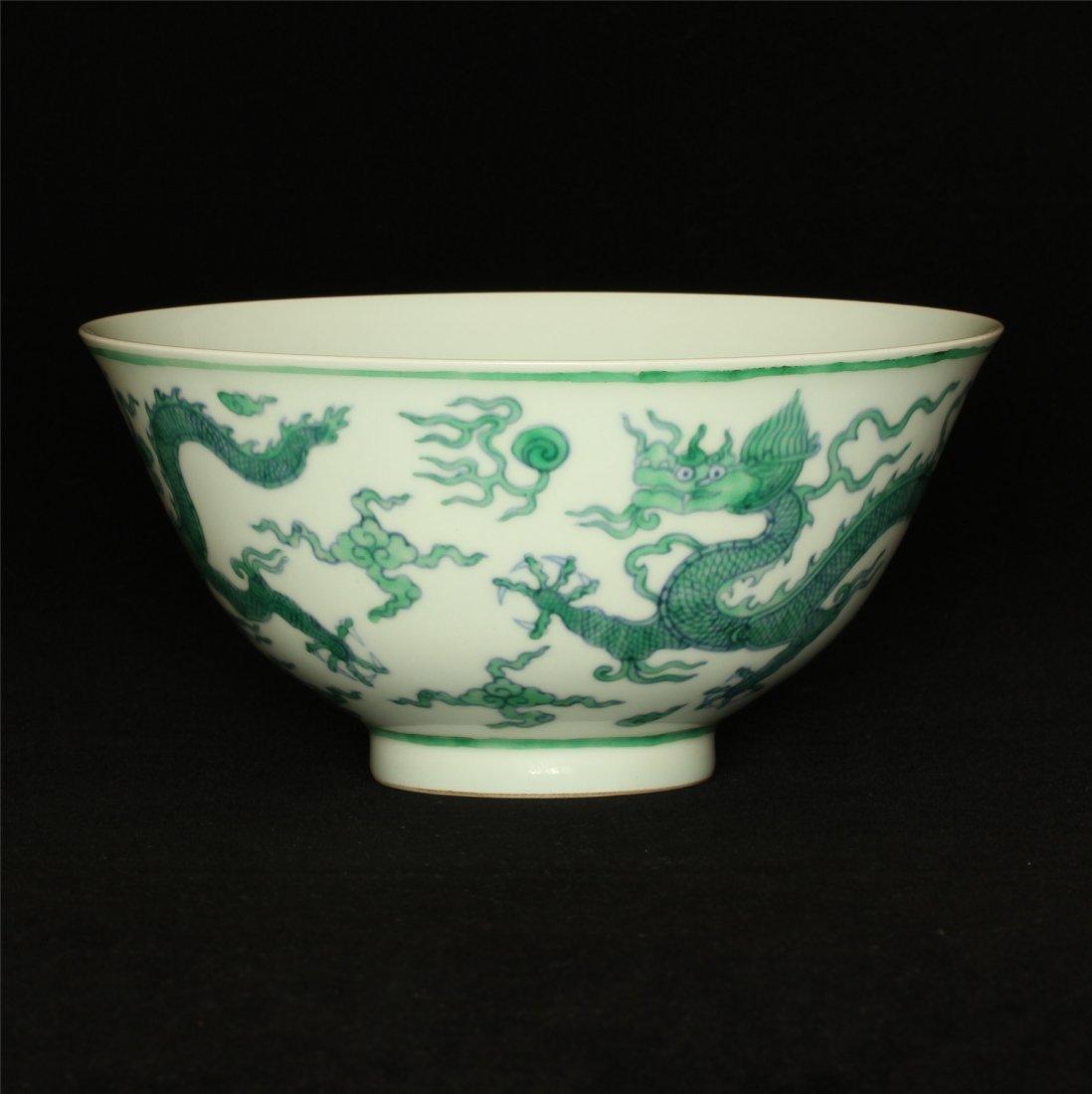Doucai porcelain bowl of Ming Dynasty ChengHua mark. - 5