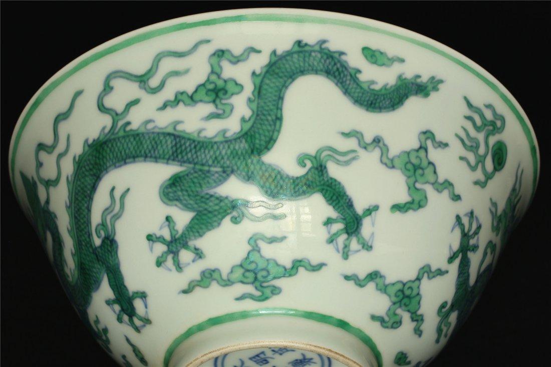 Doucai porcelain bowl of Ming Dynasty ChengHua mark. - 8